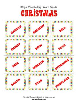 Christmas Bingo Set and Flashcards
