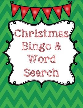 Christmas Bingo & Word Search