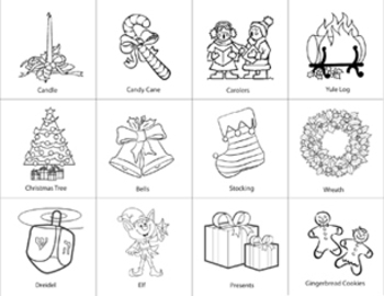 Christmas / Holiday / Winter / Xmas Bingo - 20 Card Set