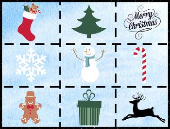 Christmas Bingo for Kindergarten