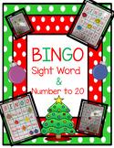Christmas Bingo (sight words & numbers to 20)