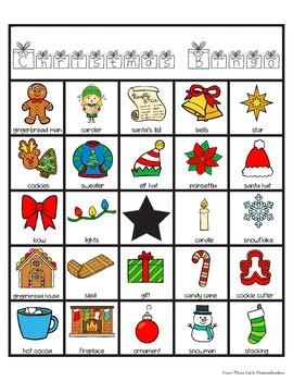 Christmas Bingo with 30 Unique Cards