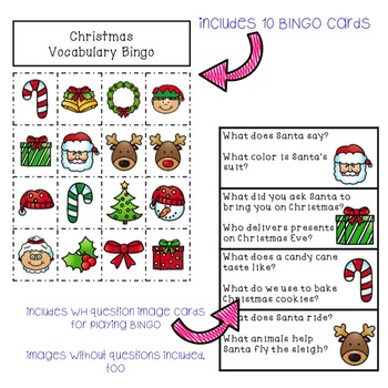Christmas Bingo with WH Questions