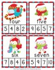 Christmas Bird Number Words Clip Cards
