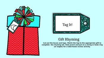 Christmas/Birthday Tag Rhyming