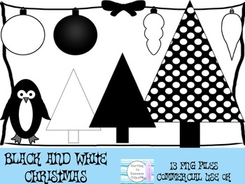 Christmas Black and White Clipart