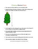 Christmas Blackout Poetry Instructions/Worksheet