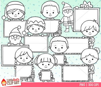 Christmas Blank Signs Clip Art