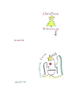 Christmas Blessings and Love Greeting Cards and Clip Art