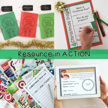 Christmas Activities for Grades 3-6 - Blooms Taxonomy - Paper & Digital Resource