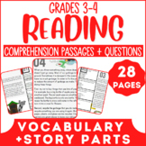 Reading Comprehension Passages | Vocabulary in Context & Story Parts | Grade 3-4