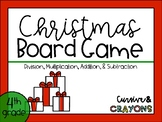 Christmas Board Game- Math Edition
