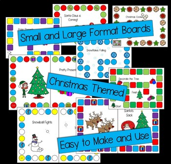 Christmas Board Games -- Literacy