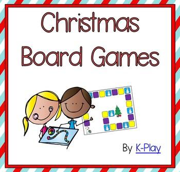 Christmas Board Games -- Literacy
