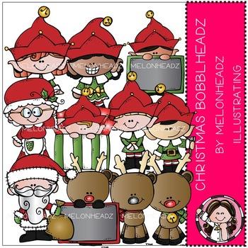 Christmas Bobbleheadz clip art- by Melonheadz