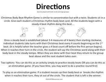 Christmas Body Beat Rhythm Game