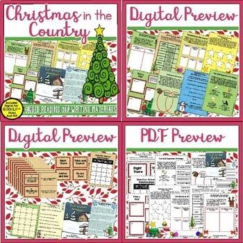 Christmas Book Unit Bundle Featuring Six Books