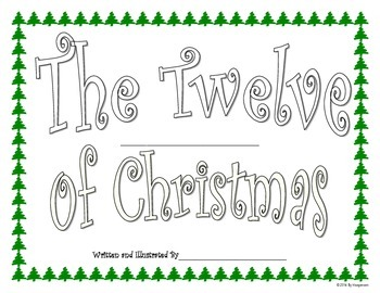 Christmas Book Writing Project For Students Based On The 12 Days of Christmas