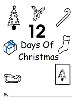 12 Days Of Christmas Book with Worksheets (Adapted, Christmas)
