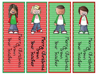 Christmas Bookmark Freebie