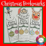 Christmas Bookmarks Coloring