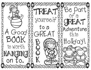 Christmas Bookmarks - FREEBEE