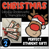 Christmas Bookmarks, Labels, Nameplates Volume 2 - Editable - Personalized Gift