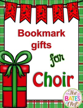 Christmas Bookmarks for Choir