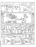 Christmas Bookmarks to color Set 2