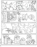 Christmas Bookmarks to color set 1