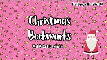 Christmas Puns.Christmas Bookmarks With Puns
