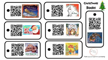 Christmas Books QR Code Listening Center