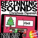 Christmas Boom Cards | Beginning Sounds | Spanish | Audio | Google Slides
