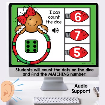 Christmas Boom Cards Counting to 20 with Dice