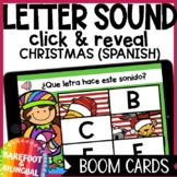 Christmas Boom Cards | Letter Sounds | Puzzles | Spanish