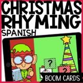 Christmas Boom Cards | Rhyming | Spanish | Audio