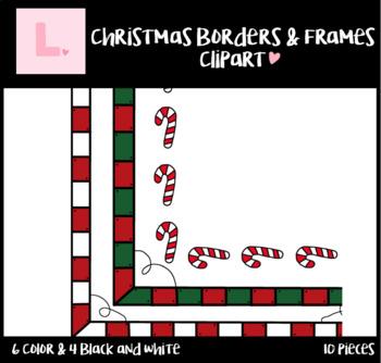 Christmas Border Frames Clip Art / Christmas Clip Art / FREEBIE