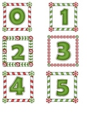 Christmas Border Number Cards