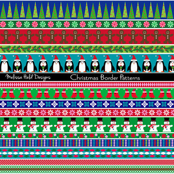 Clipart: Christmas Border Patterns Clip Art