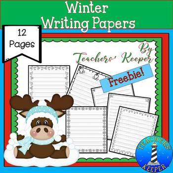 Christmas Border Writing Pages