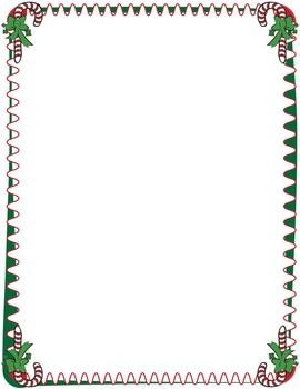 Christmas Borders - Candy Cane Clip Art