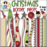 Christmas Border Pieces ● Christmas Clipart● Graphics ● Pr