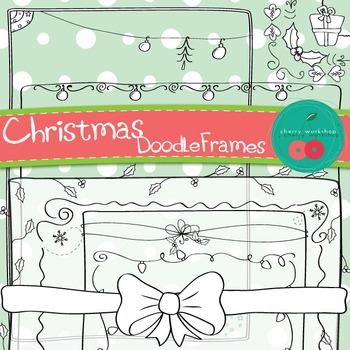 Christmas Borders - Christmas Frames Doodle - Hand-drawn borders{Commercial Use)