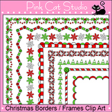 Borders - Christmas Borders Clip Art Set 3 - Personal or Commercial Use