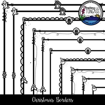 Christmas Borders Clipart Bundle