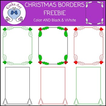 Christmas Borders FREEBIE