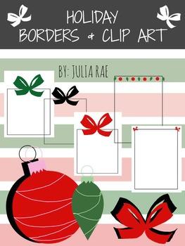 Christmas Borders + Ornament Clip Art