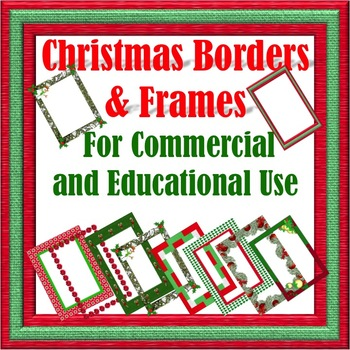 Christmas Borders and Frames for Commercial and Educational Use