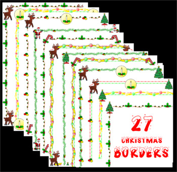 Christmas Borders—over 28 different designs