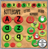 Christmas Bottle Caps Letters Blanks Stickers Moveable Cli